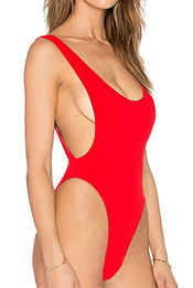 90s high cut one piece swimsuit