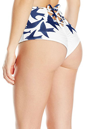 expensive swim suit bottoms with birds
