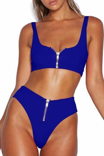 double zipper bikini